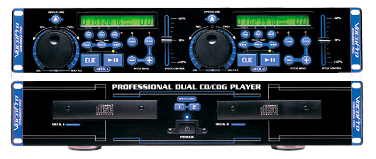 VocoPro CDG8800 PRO Professional Dual-Deck CD/CD+G Player