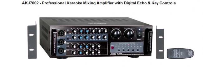 400 Watts Professional Karaoke Mixing Amplifier with Digital Echo & Key Controls