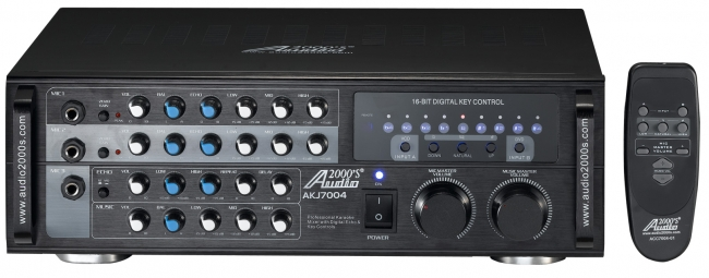 Professional Karaoke Mixer with Digital Echo & Key Controls
