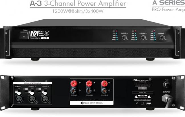 Brand new A-3 3-Channel Power Amplifier 1200 Watts
