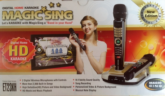 2013 EnterTech Magic Sing dual Wireless Mics, HD, HDMI karaoke  2045 songs Included