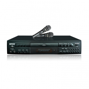Professional DVD/Karaoke/CDG/USB  Player with Two Microphones