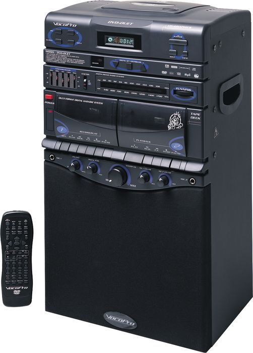80Watts DVD/ CDG/ VCD/ MP3/ Dual Cassette with Am/Fm Radio Tuner.